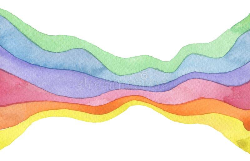 Fondo pintado acuarela abstracta de la onda Textura (de papel) arrugada Aislado fotografía de archivo libre de regalías