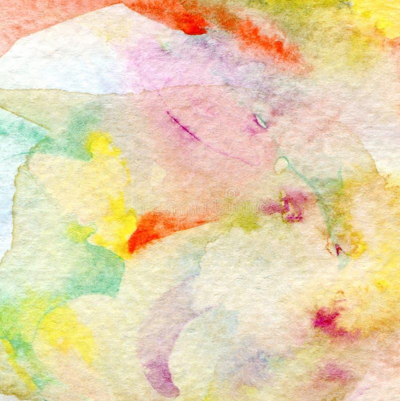 Fondo pintado acuarela abstracta. Textura de papel. ilustración del vector