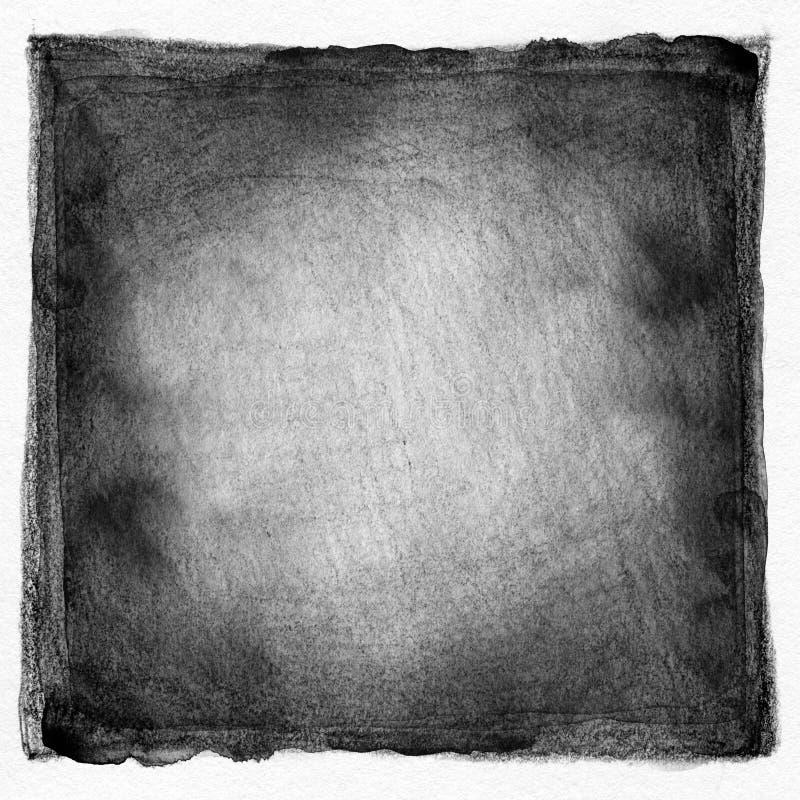 Fondo pintado acuarela blanco y negro abstracta fotografía de archivo