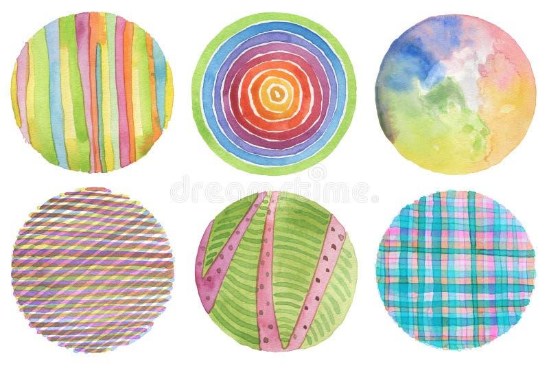 Fondo pintado círculo abstracto de la acuarela Texture el papel Es imagenes de archivo