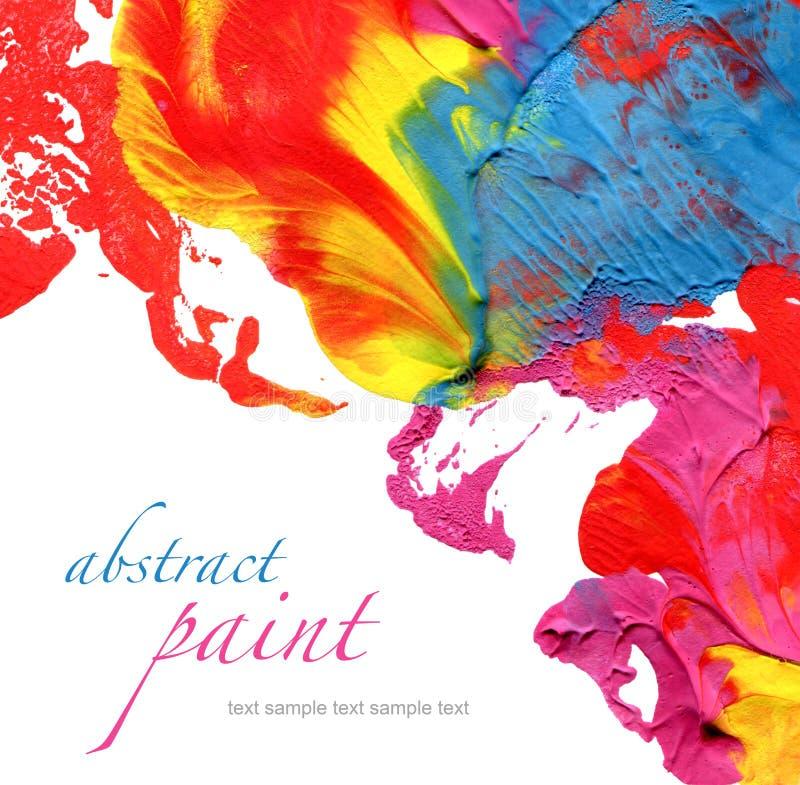 Fondo pintado de acrílico abstracto foto de archivo