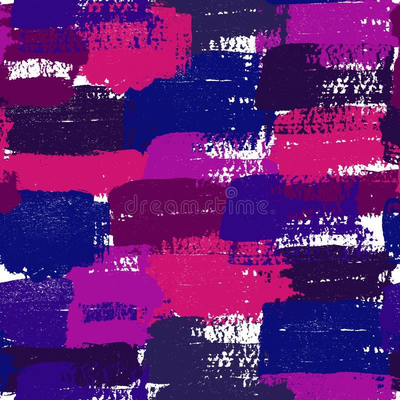 Fondo pintado de los movimientos del rosa, azules y púrpuras del cepillo ilustración del vector