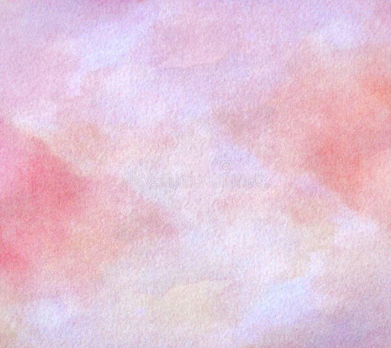 Fondo pintado extracto de la acuarela en la textura de papel imagen de archivo