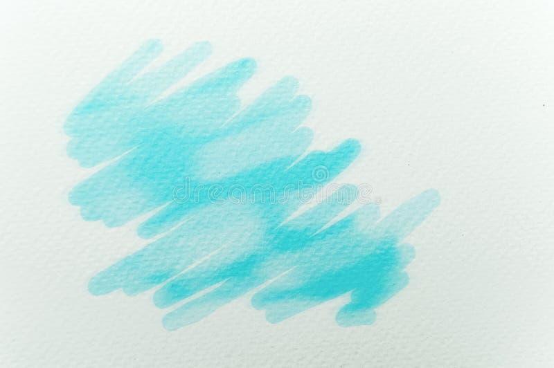 Fondo pintado extracto de la acuarela en la textura de papel fotos de archivo