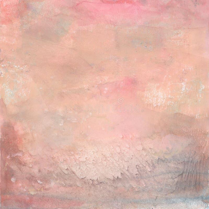 Fondo pintado extracto en colores en colores pastel imagen de archivo libre de regalías