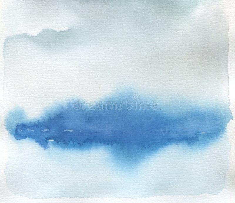 Fondo pintado mancha blanca /negra abstracta del paisaje de la acuarela Textura stock de ilustración