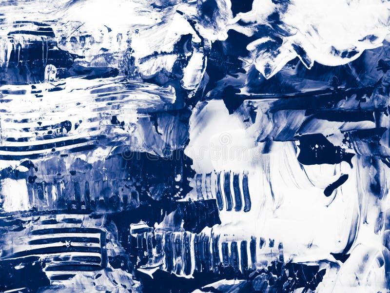 Fondo pintado a mano abstracto creativo azul ilustración del vector