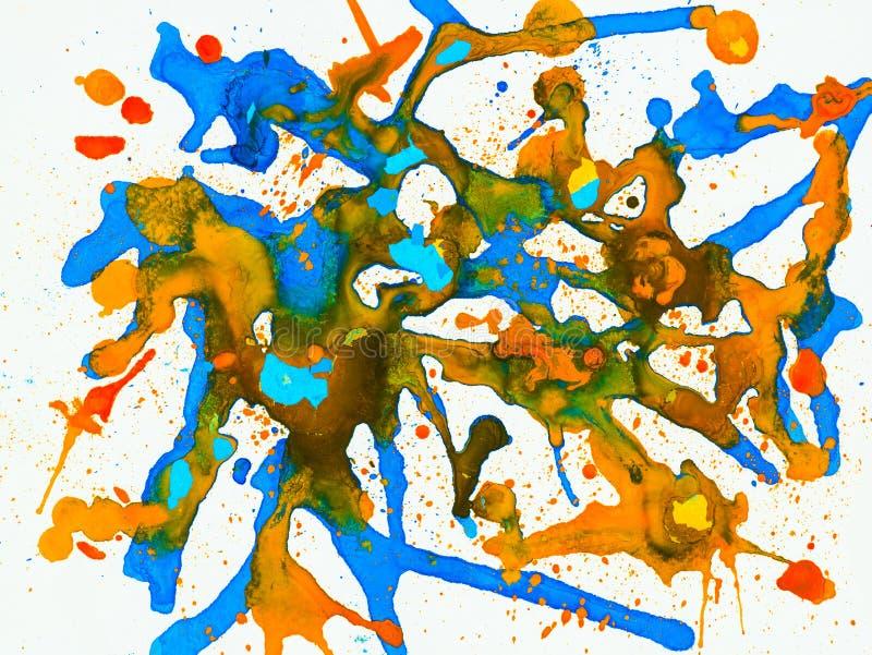 Fondo pintado a mano abstracto creativo, papel pintado, textura, c ilustración del vector