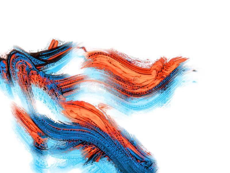 Fondo pintado a mano abstracto creativo, papel pintado, textura, c stock de ilustración