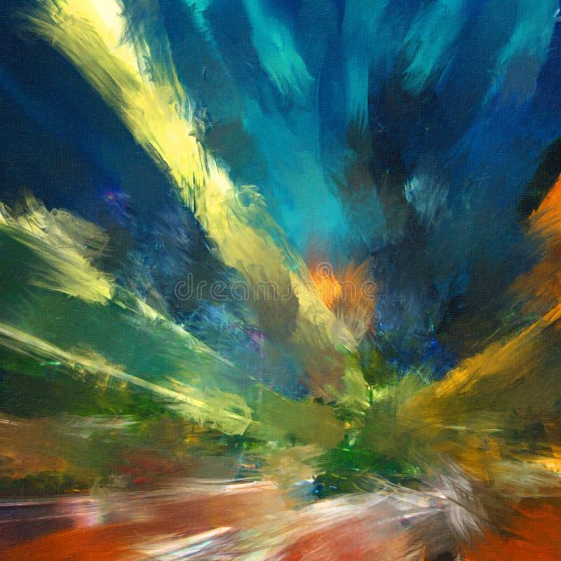 Fondo pintado a mano abstracto creativo, papel pintado, textura, c libre illustration