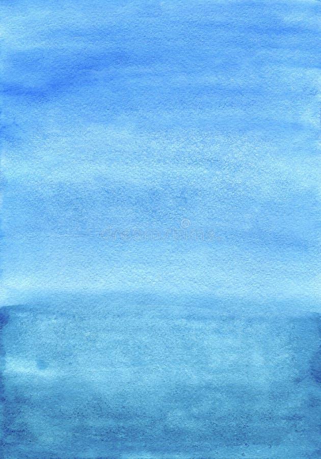 Fondo pintado a mano azul de la acuarela fotos de archivo libres de regalías