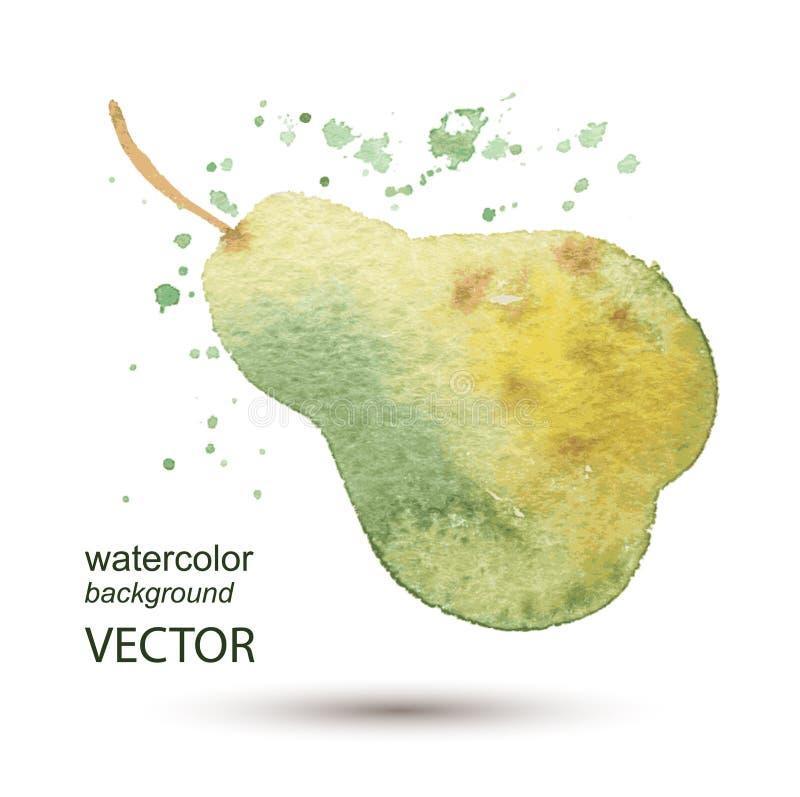 Fondo pintado a mano de la acuarela abstracta de la pera ilustración del vector