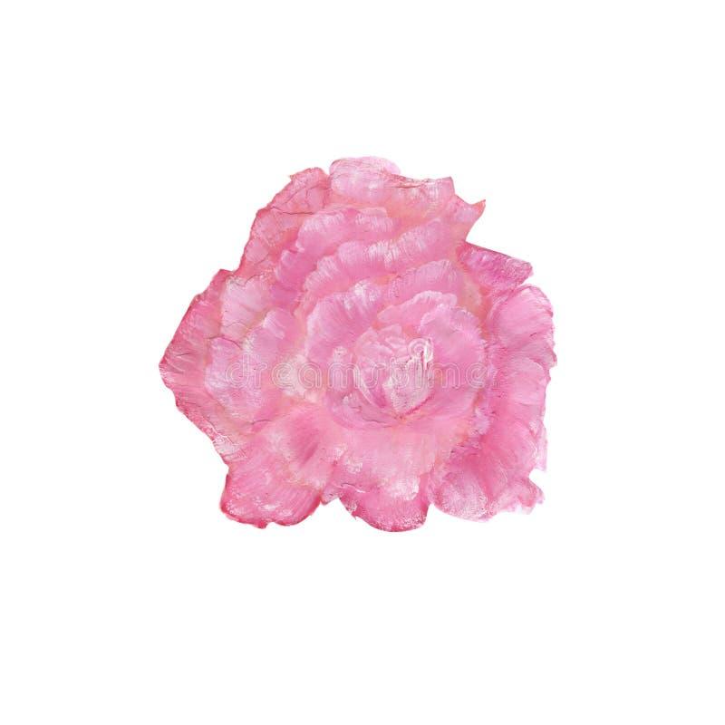 Fondo pintado a mano de la acuarela color de rosa del rosa del extracto libre illustration