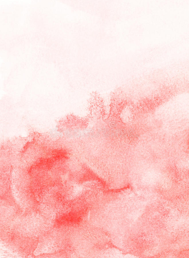 Fondo pintado rojo de la acuarela ilustración del vector