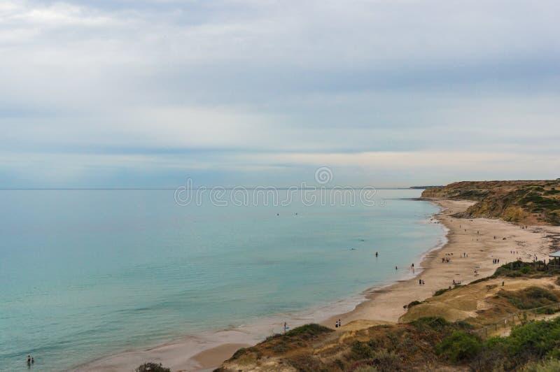 Fondo pittoresco della natura di vista sul mare fotografia stock