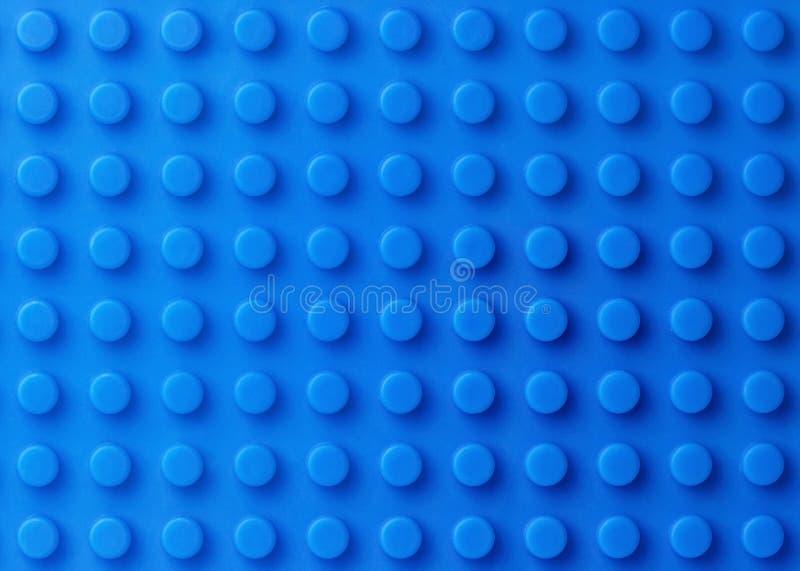 Fondo plástico azul de la construcción imagen de archivo libre de regalías