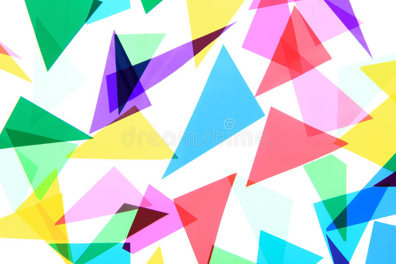 Fondo plástico de los triángulos del color fotografía de archivo