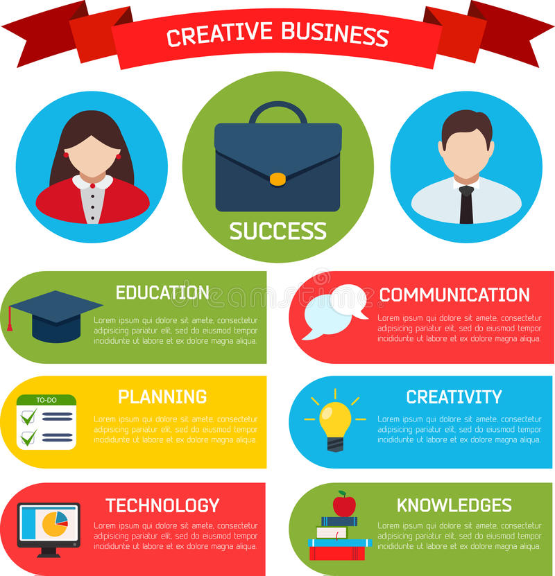 Fondo plano de Infographic del negocio libre illustration