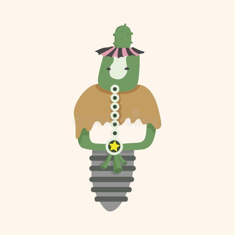 Fondo plano de los elementos del icono del monstruo extraño, eps10 libre illustration