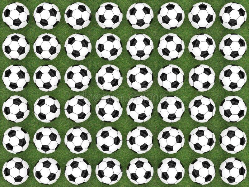 Fondo plano del balón de fútbol de la endecha libre illustration