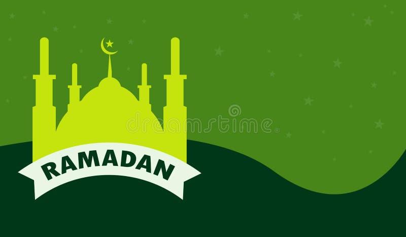 Fondo plano del diseño de la mezquita del Ramadán ilustración del vector