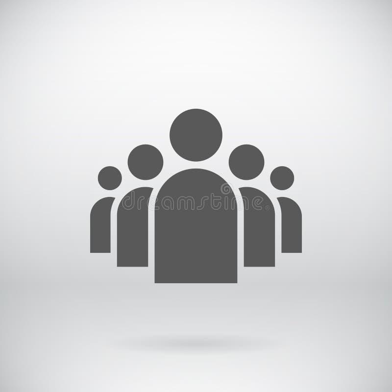 Fondo plano del símbolo del vector del icono de grupo de personas
