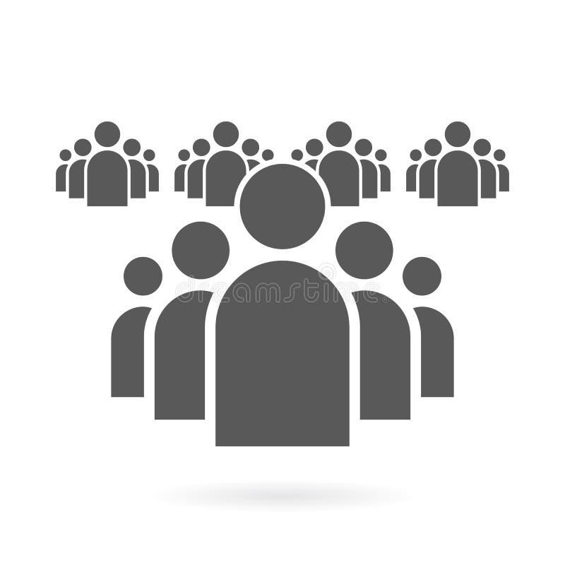 Fondo plano del símbolo del vector del icono de grupo de personas ilustración del vector