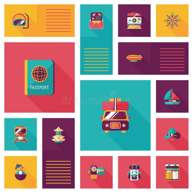 Download Fondo Plano Del Ui Que Viaja, Eps10 Ilustración del Vector - Ilustración de diseño, turismo: 44856365