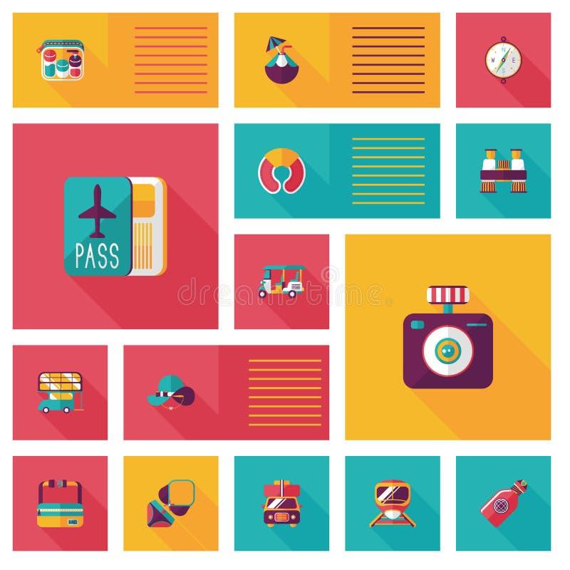 Download Fondo Plano Del Ui Que Viaja, Eps10 Ilustración del Vector - Ilustración de fondo, verano: 44856442