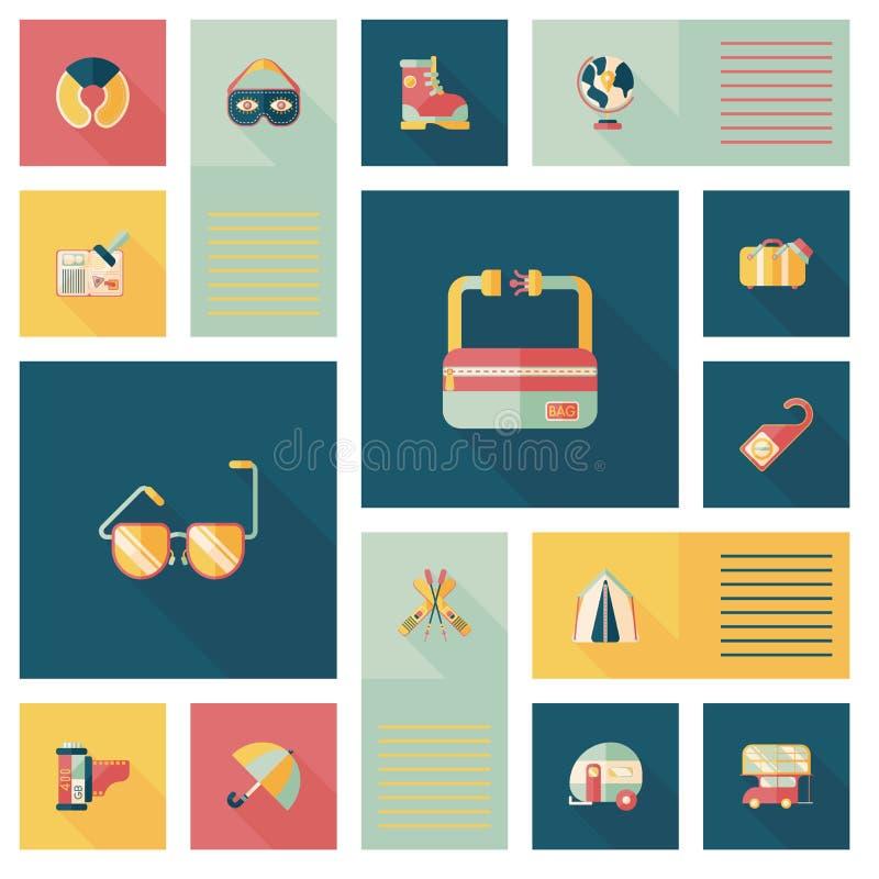 Download Fondo Plano Del Ui Que Viaja, Eps10 Ilustración del Vector - Ilustración de holiday, playa: 44856582