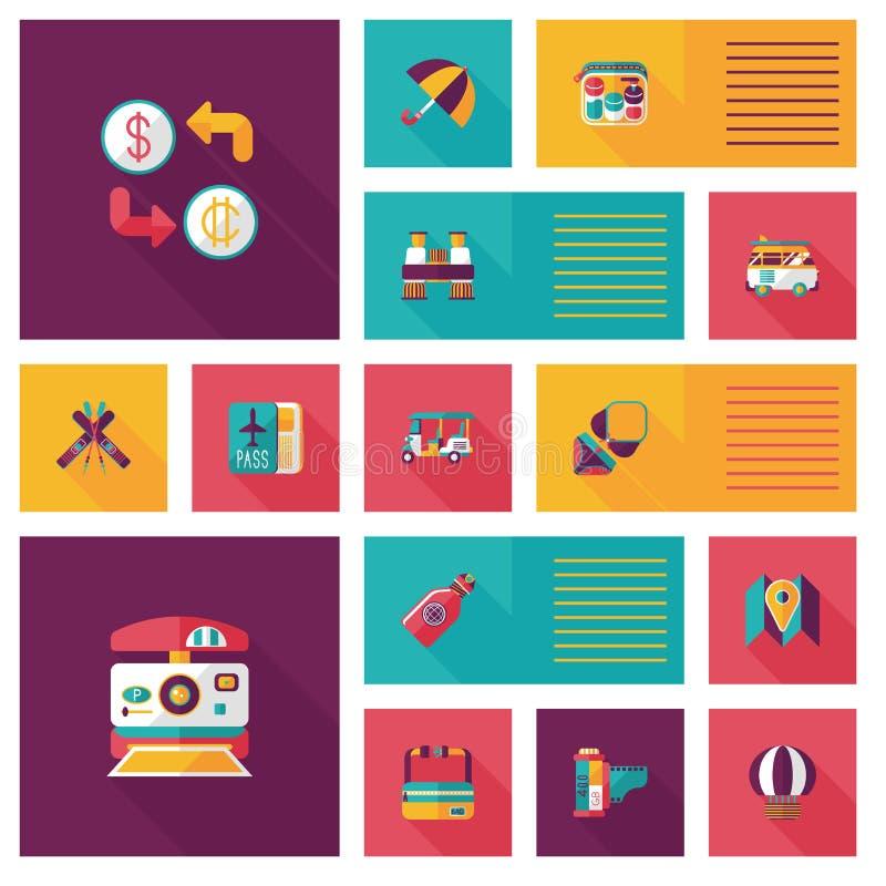 Download Fondo Plano Del Ui Que Viaja, Eps10 Ilustración del Vector - Ilustración de concepto, diseño: 44856768