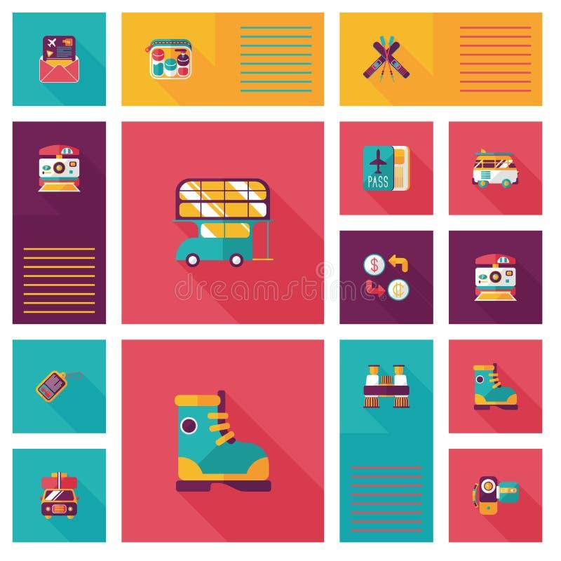Download Fondo Plano Del Ui Que Viaja, Eps10 Ilustración del Vector - Ilustración de correspondencia, fondo: 44856806