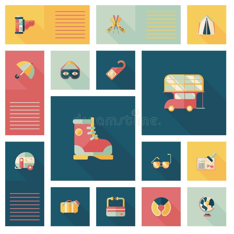Download Fondo Plano Del Ui Que Viaja, Eps10 Ilustración del Vector - Ilustración de vacaciones, holiday: 44856821
