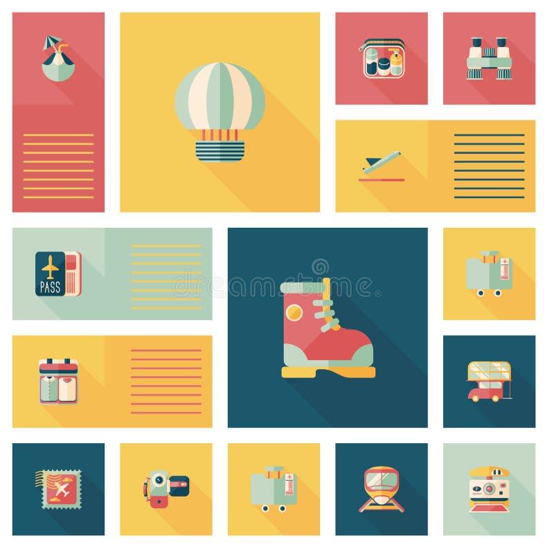 Download Fondo Plano Del Ui Que Viaja, Eps10 Ilustración del Vector - Ilustración de pasaporte, bolso: 44856890