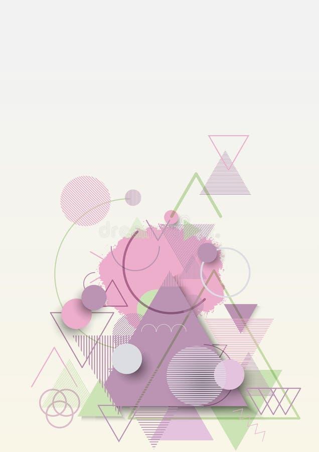 Fondo plano geométrico abstracto libre illustration