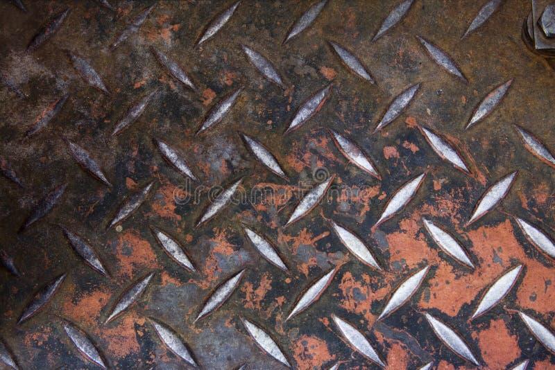 Fondo plateado de metal del diamante de Grunge fotografía de archivo