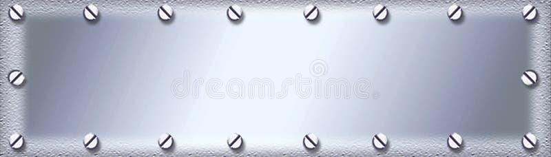 Fondo plateado de metal inoxidable ilustración del vector