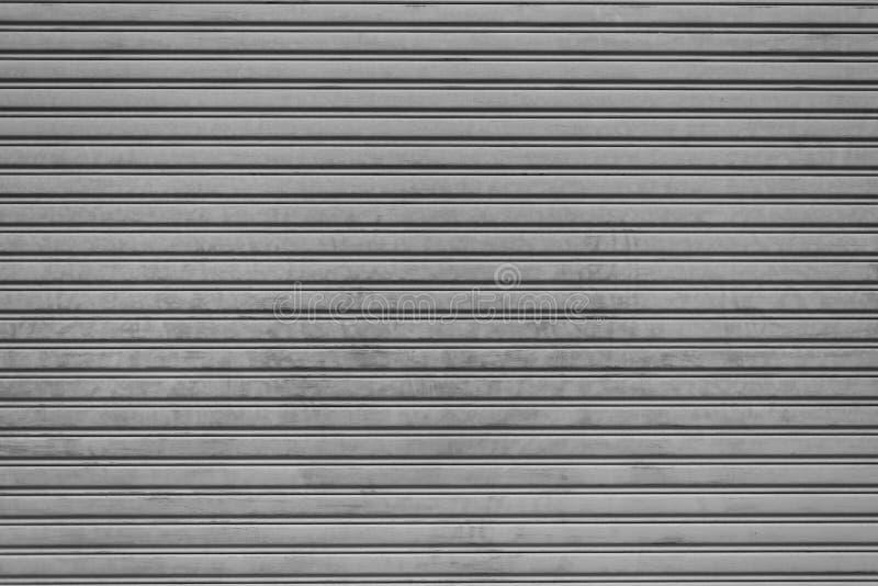 Fondo plegable de acero de la puerta del obturador del garaje Textura e Interi fotografía de archivo libre de regalías