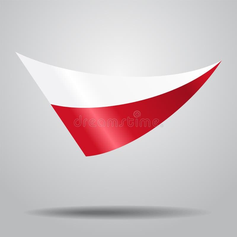 Fondo polacco della bandiera Illustrazione di vettore illustrazione vettoriale