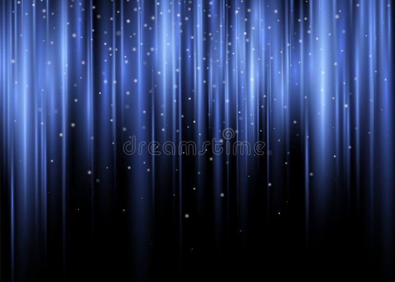 Fondo polare dell'estratto di vettore del chiarore di incandescenza della porpora Violet Shining Waves di Aurora Borealis Light E illustrazione di stock
