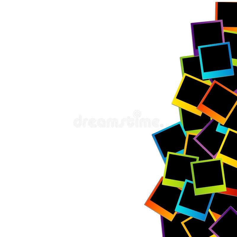 Fondo polaroid colorido ilustración del vector