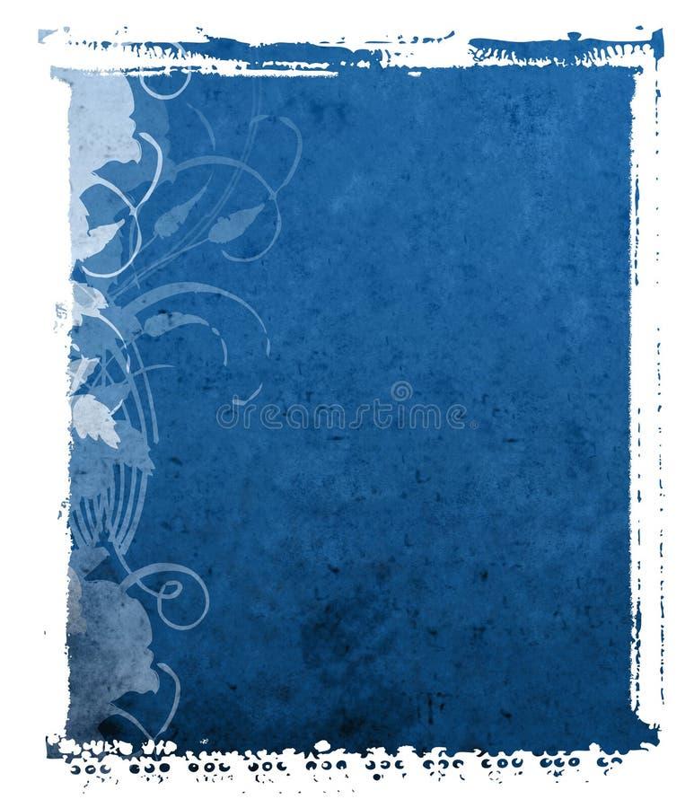 Fondo polaroid del azul de la transferencia imagen de archivo
