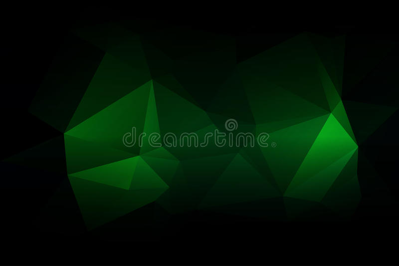 Fondo poli basso verde al neon d'ardore illustrazione di stock