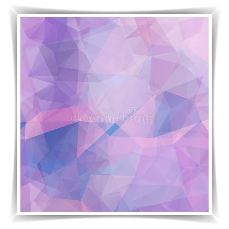 Fondo poligonal abstracto del rosa en colores pastel stock de ilustración