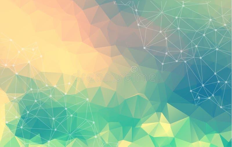Fondo poligonal abstracto Ejemplo geométrico colorido stock de ilustración