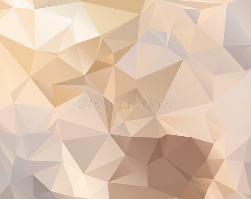 Fondo poligonal abstracto en colores en colores pastel ilustración del vector