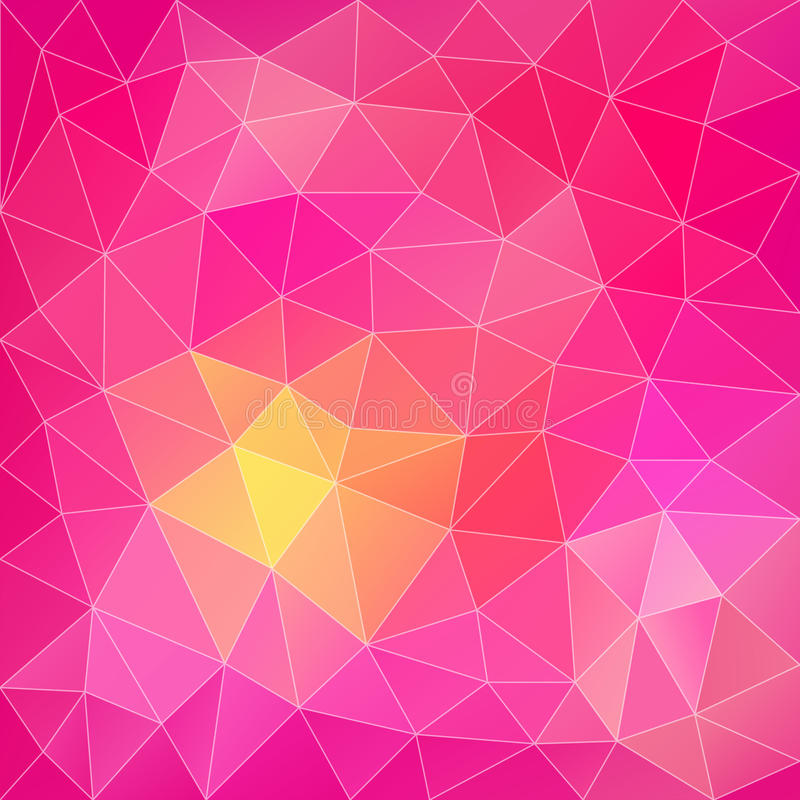Fondo poligonal abstracto rosado stock de ilustración