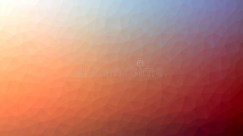 Fondo poligonal anaranjado rojo claro del mosaico, ejemplo del vector, creativo, estilo de la papiroflexia con pendiente ilustración del vector