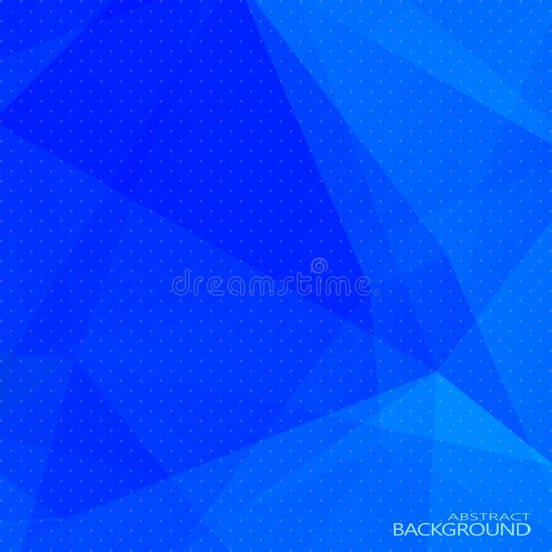 Fondo poligonal azul abstracto con el tono medio stock de ilustración