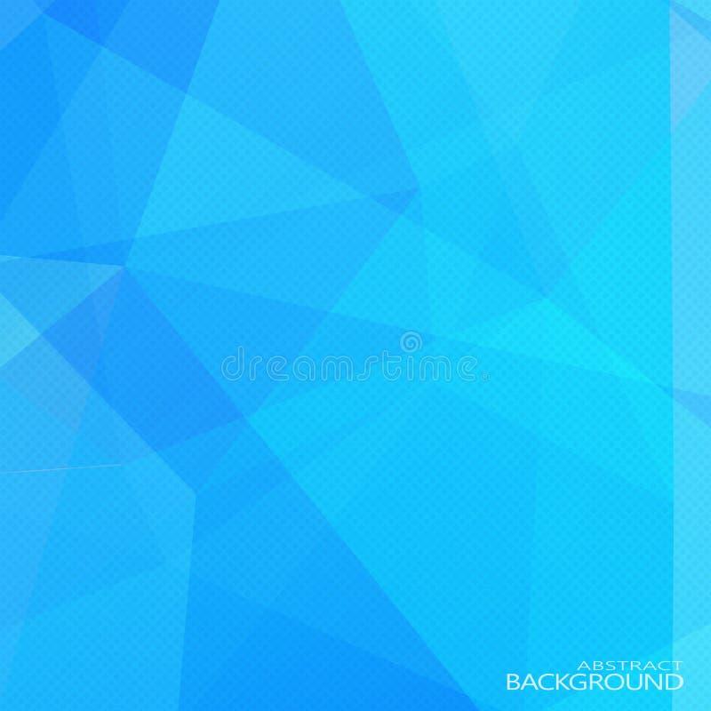 Fondo poligonal azul abstracto con el tono medio ilustración del vector